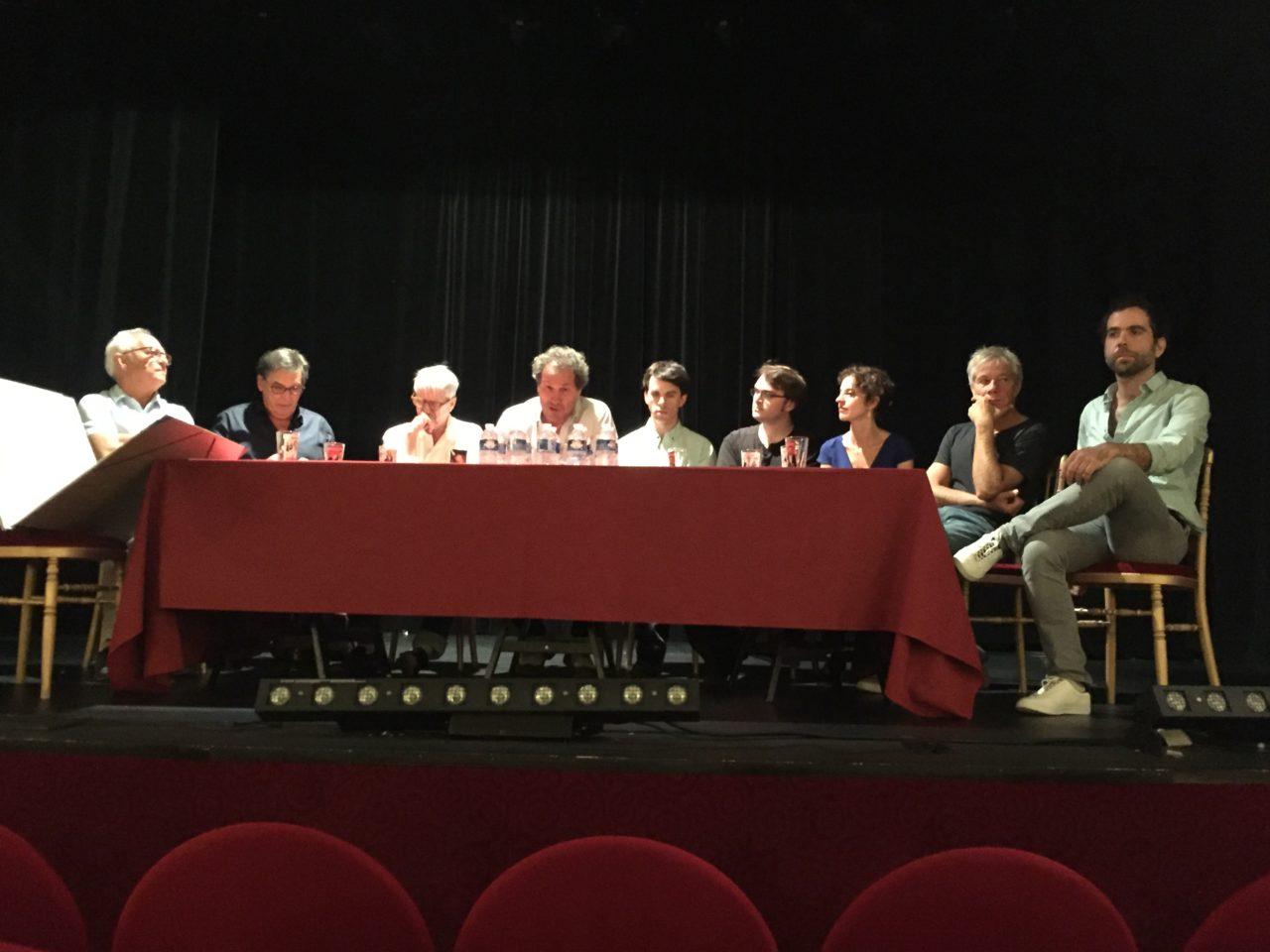 De gauche à droite: Charles Tordjman, Pascal Legros, Jean-Louis Benoit, Francis Lombrail Julien et Mathias Cadez, Lysiane Meis, José Paul et Sébastien Castro