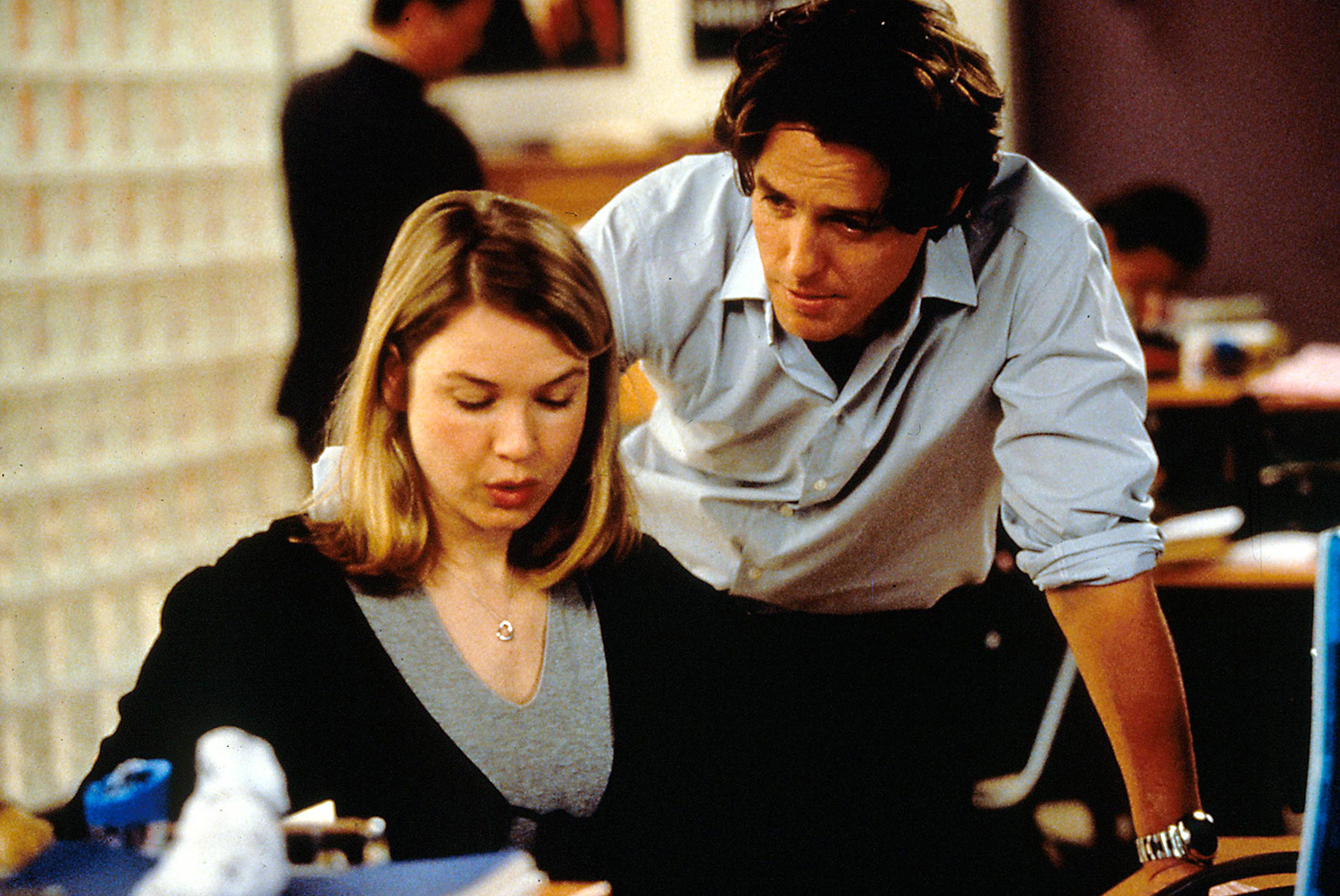 Editorial use only. No book cover usage. Mandatory Credit: Photo by Moviestore/Shutterstock (1552995a) Bridget Jones's Diary, Renee Zellweger, Hugh Grant Film and Television