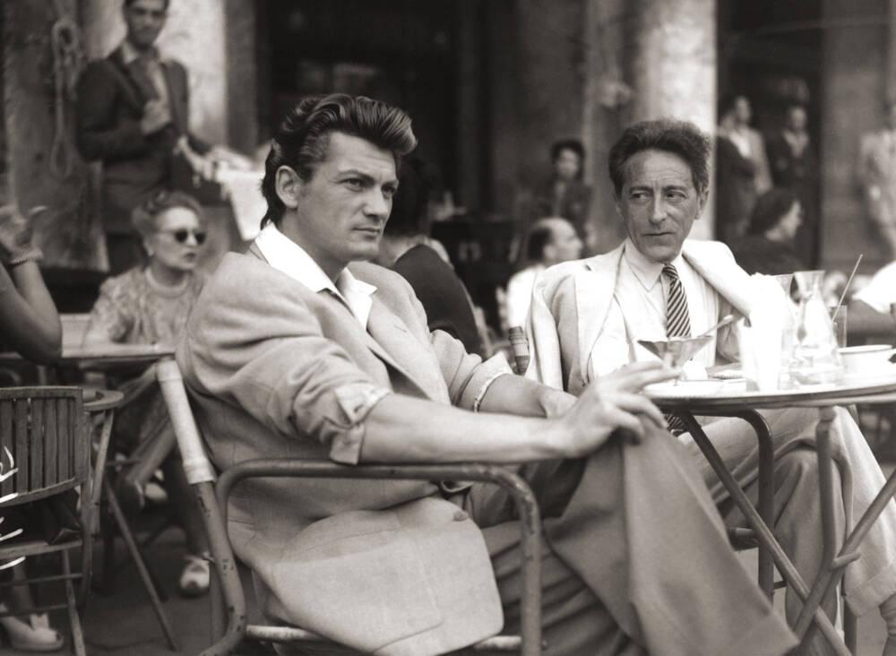 Jean Marais et Jean Cocteau à Venise, 1947. Droits réservés